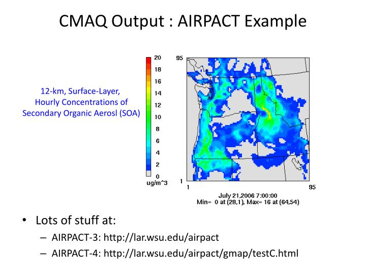 CMAQ Output : AIRPACT Example