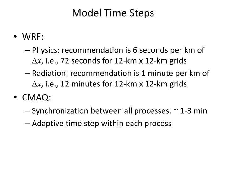 Model Time Steps