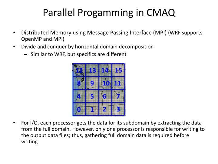 Parallel Progamming in CMAQ
