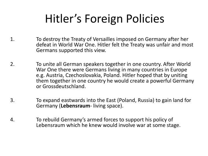 Hitler's Foreign Policies