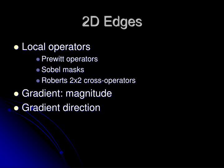 2D Edges