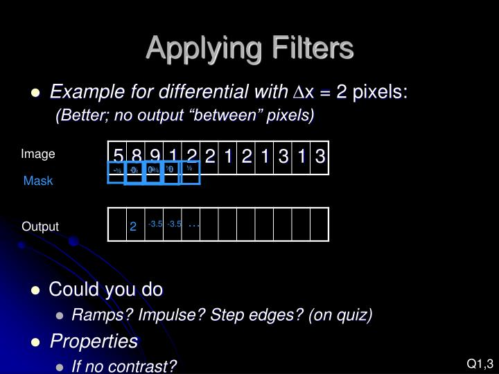 Applying Filters