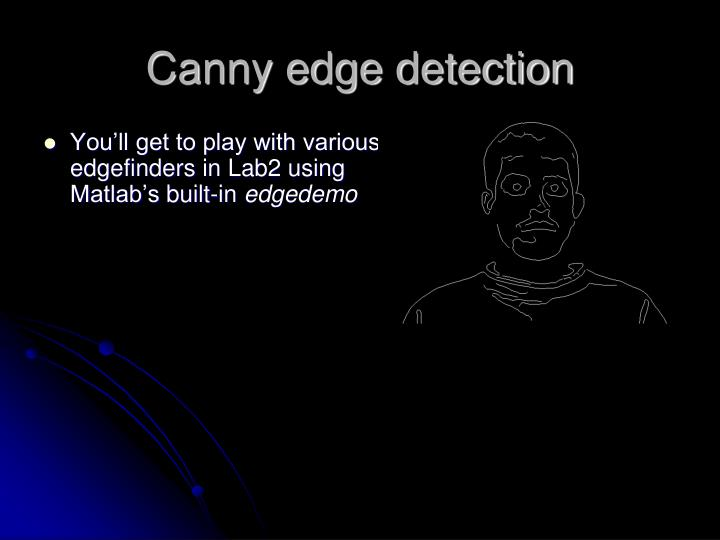 Canny edge detection