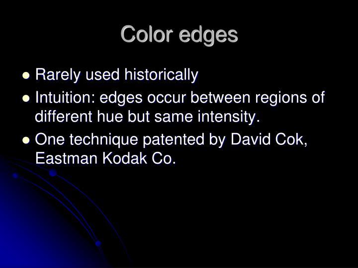 Color edges