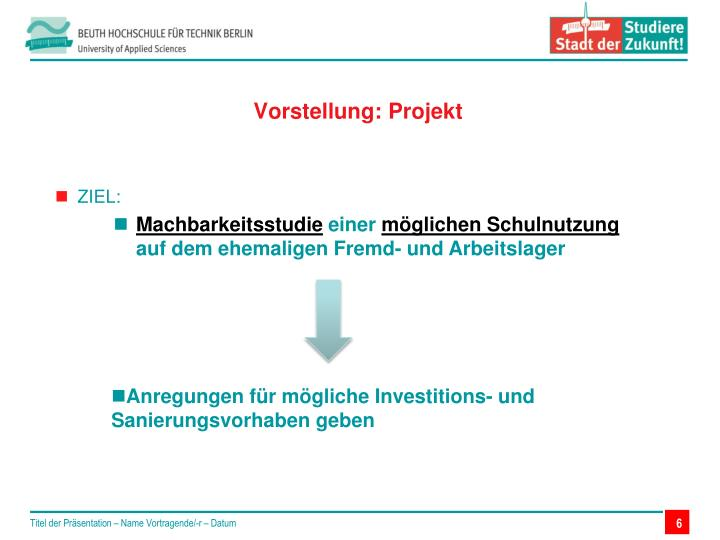 Vorstellung: Projekt