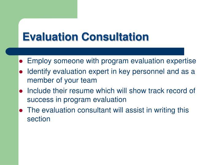 Evaluation Consultation