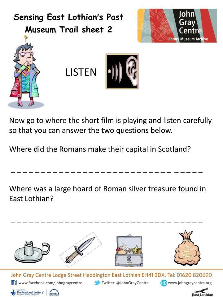 Sensing East Lothian