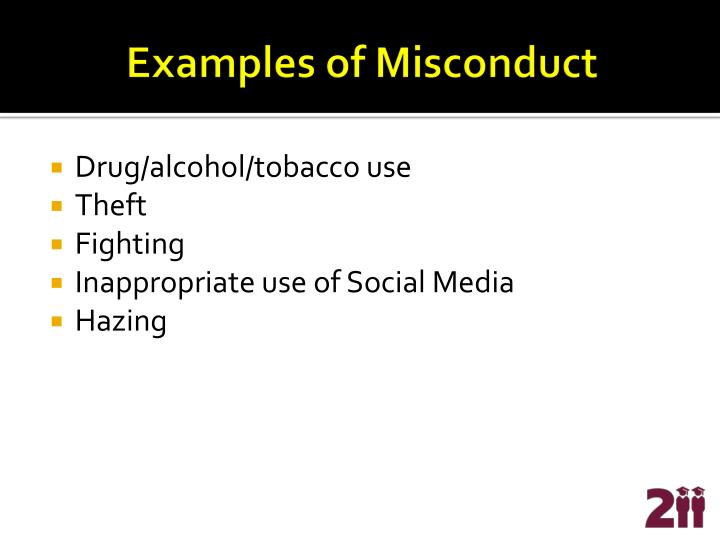 Examples of Misconduct