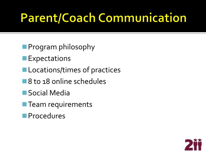 Parent/Coach Communication