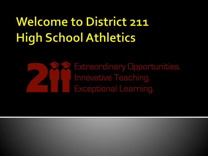 Welcome to district 211 high school athletics