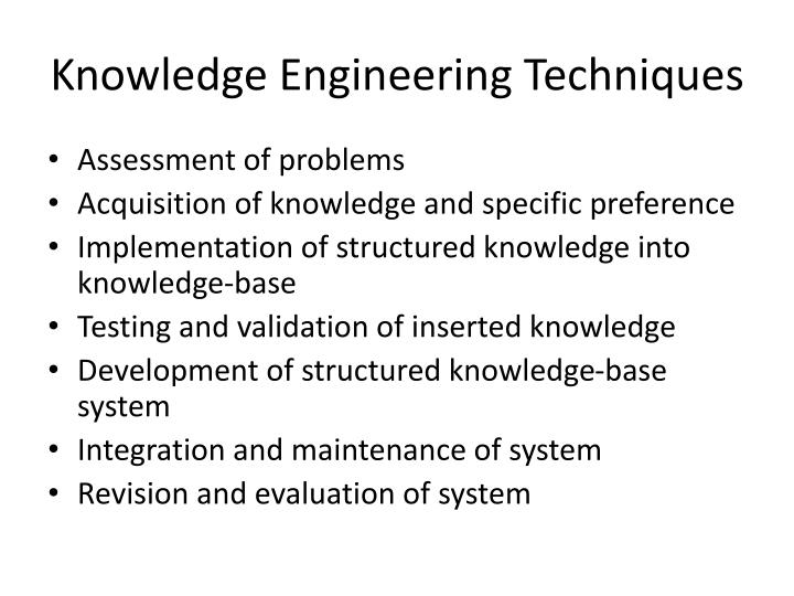 Knowledge Engineering Techniques