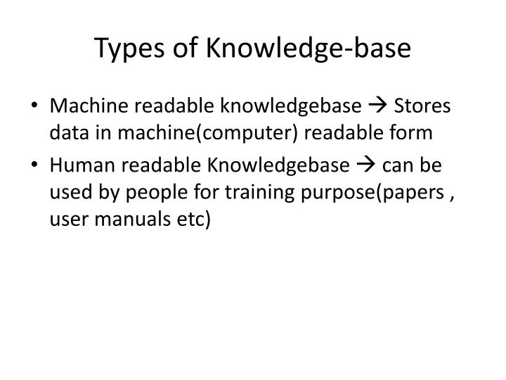 Types of Knowledge-base