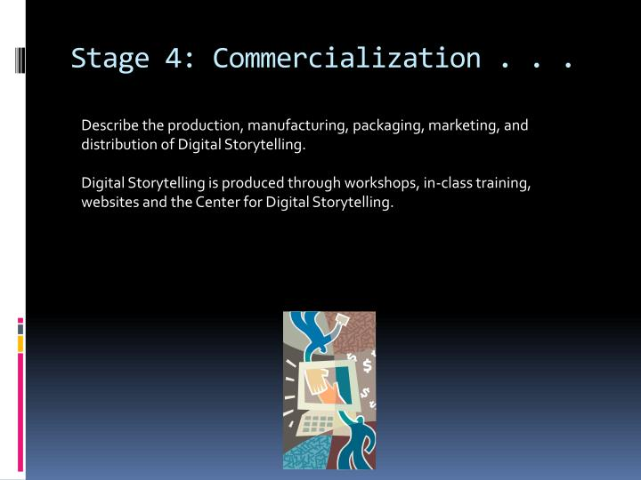 Stage 4: Commercialization . . .