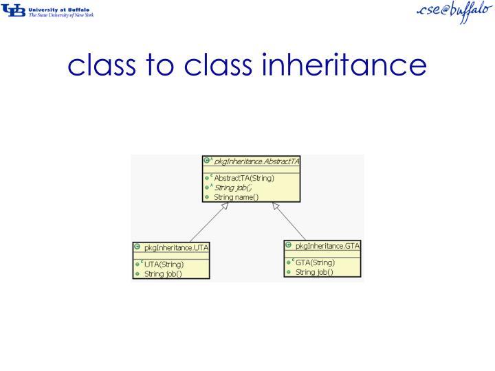 class to class inheritance