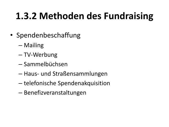1.3.2 Methoden des Fundraising