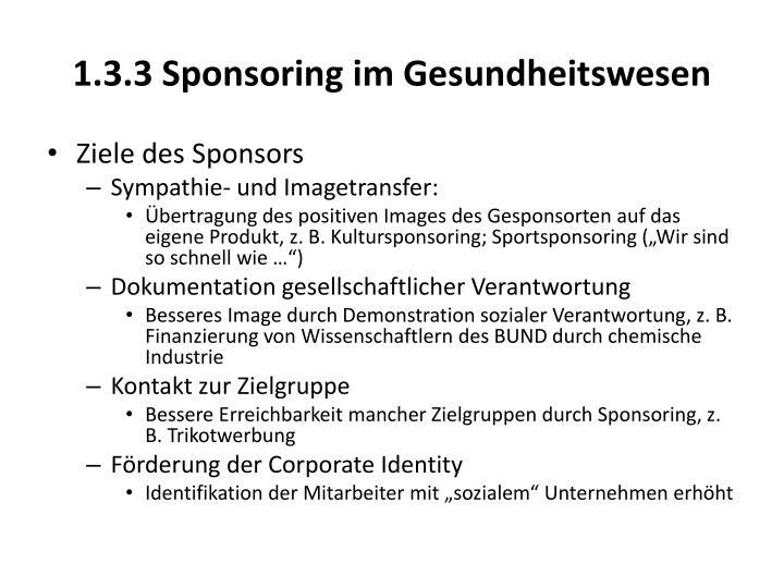1.3.3 Sponsoring