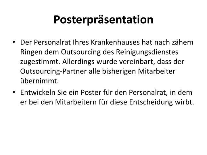 Posterpräsentation