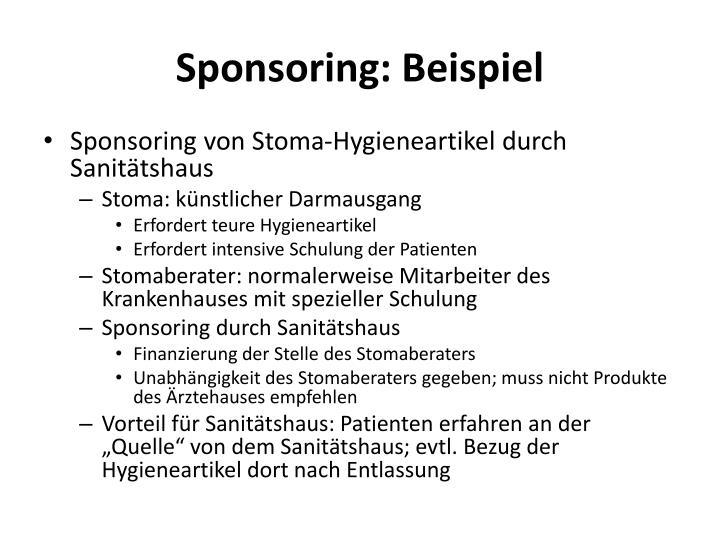 Sponsoring: Beispiel
