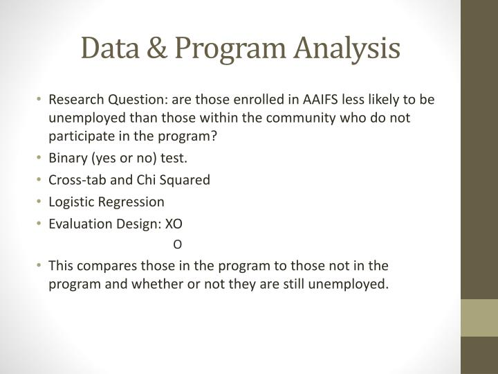 Data & Program Analysis