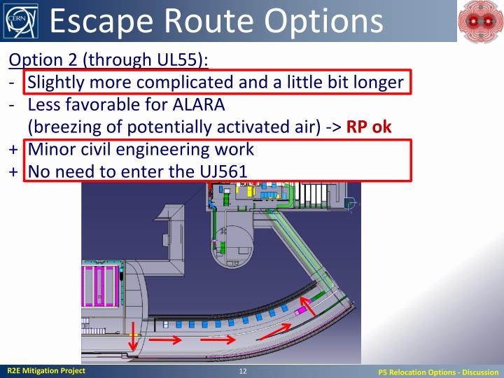 Escape Route Options