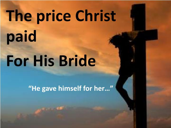 The price Christ paid