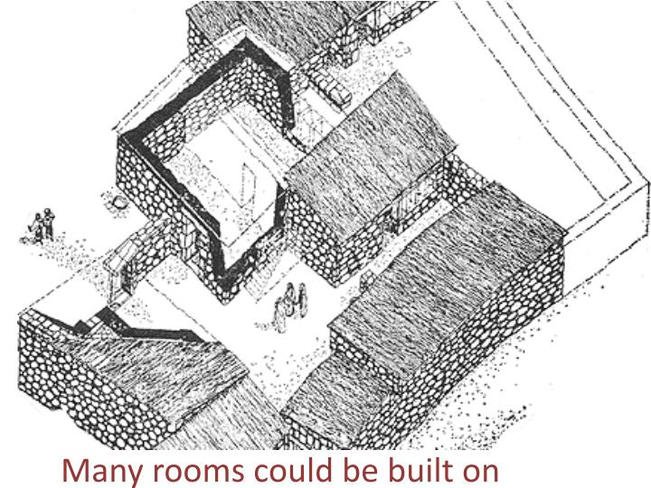 Many rooms could be built on