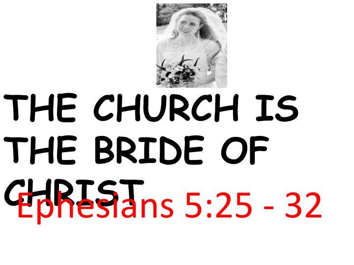 Ephesians 5:25 - 32