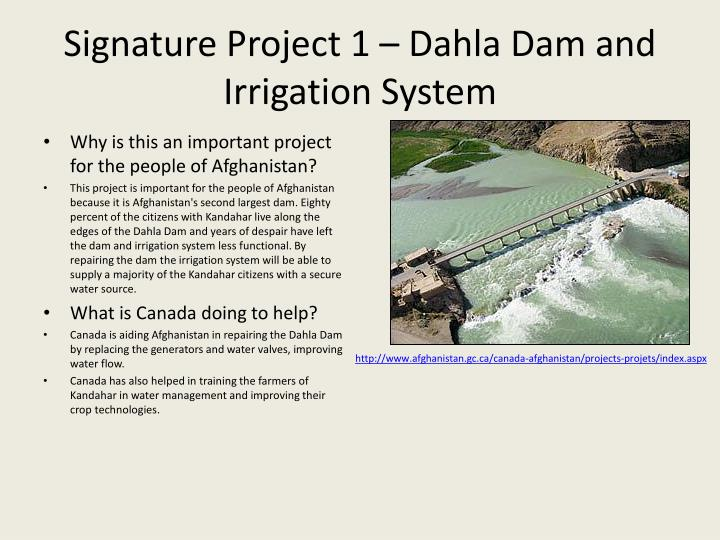 Signature Project 1 – Dahla Dam and Irrigation System