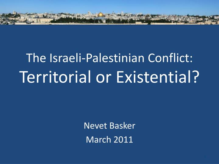 an analysis of the israeli palenstinian conflict