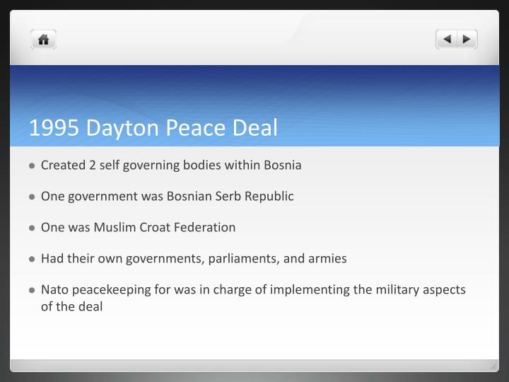 1995 Dayton Peace Deal
