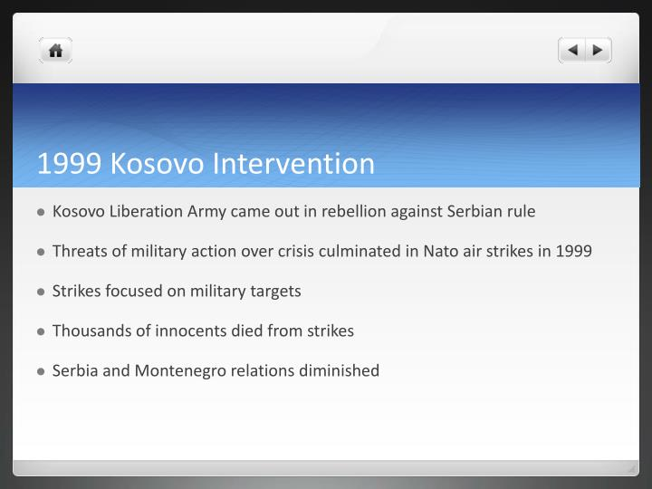 1999 Kosovo Intervention