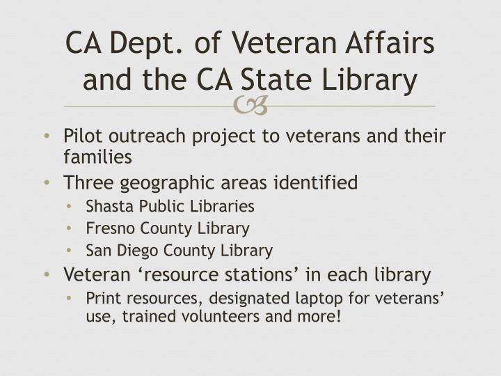 CA Dept. of Veteran Affairs