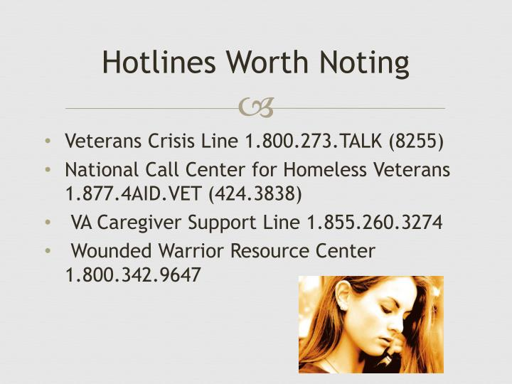 Hotlines Worth Noting