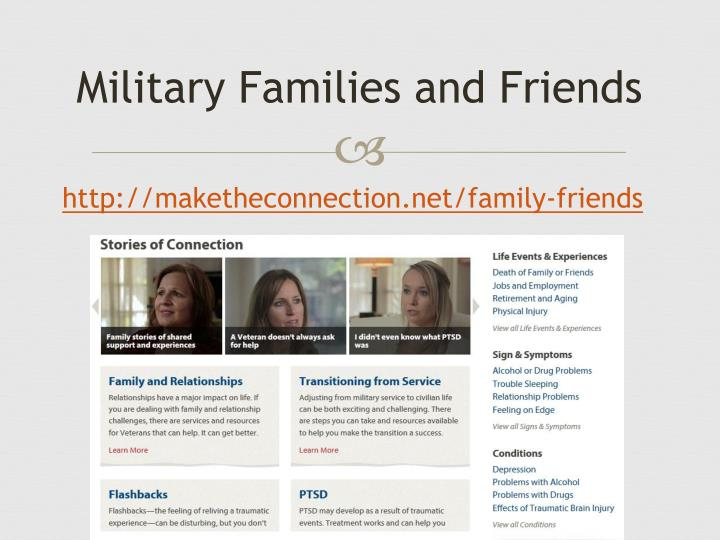 Military Families and Friends