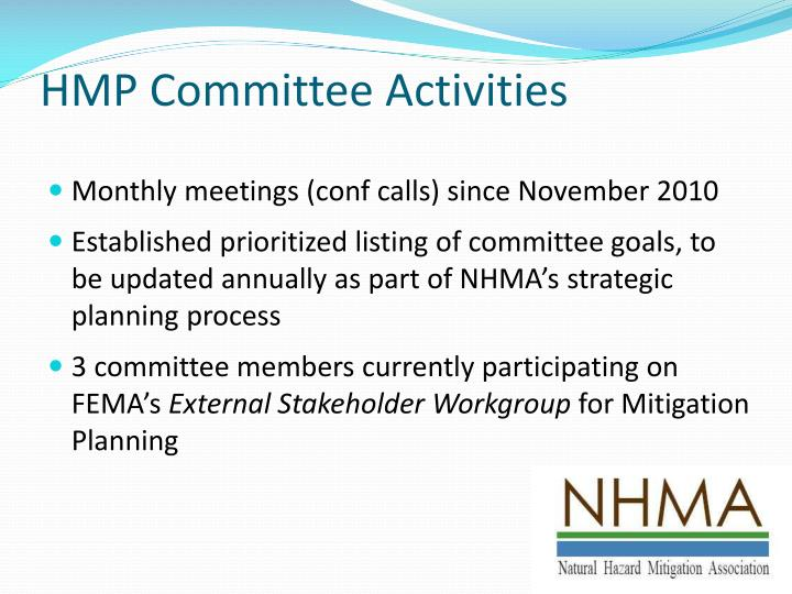 HMP Committee Activities