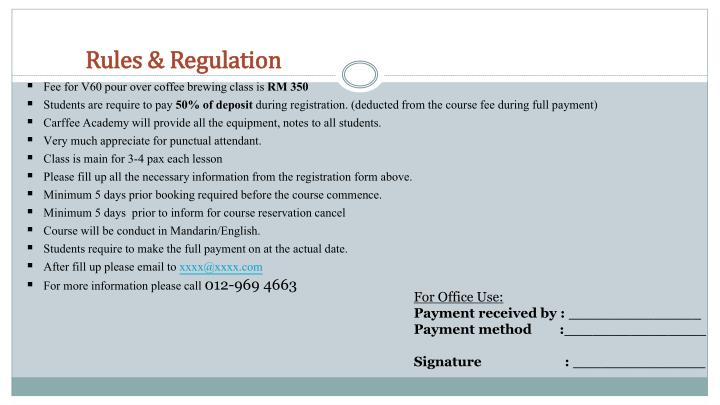 Rules & Regulation