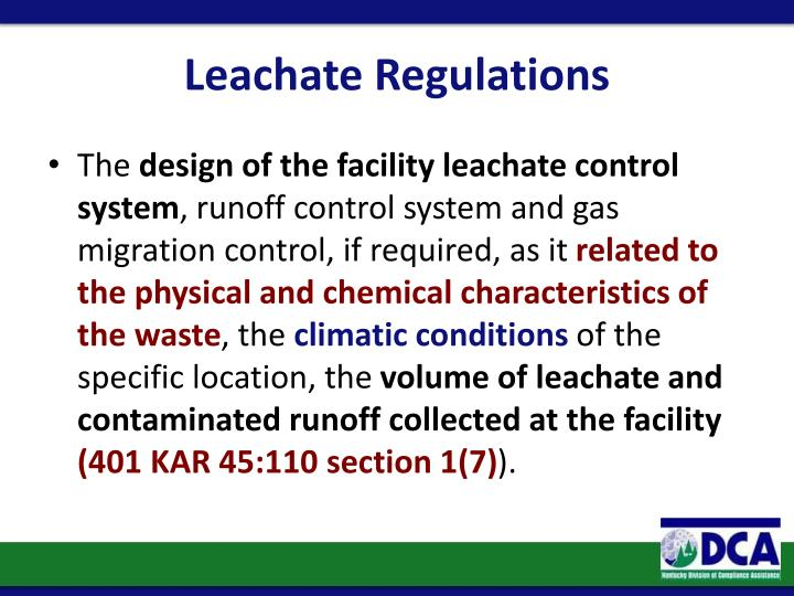 Leachate Regulations