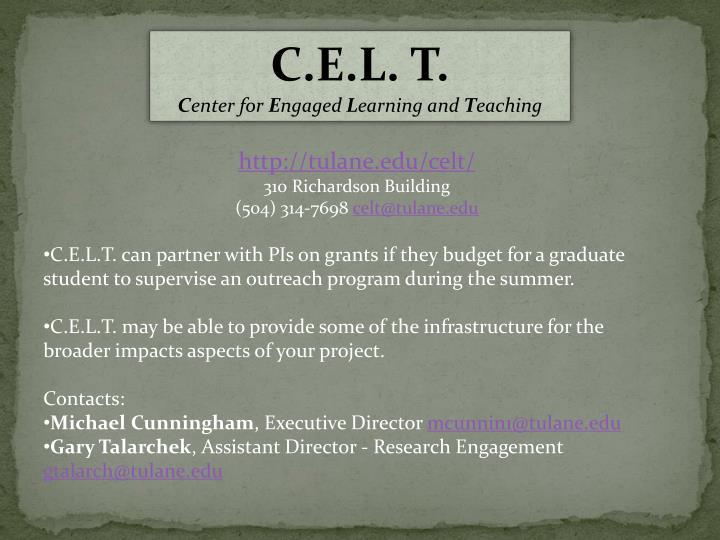 C.E.L. T.