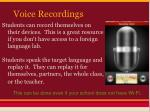 voice recordings