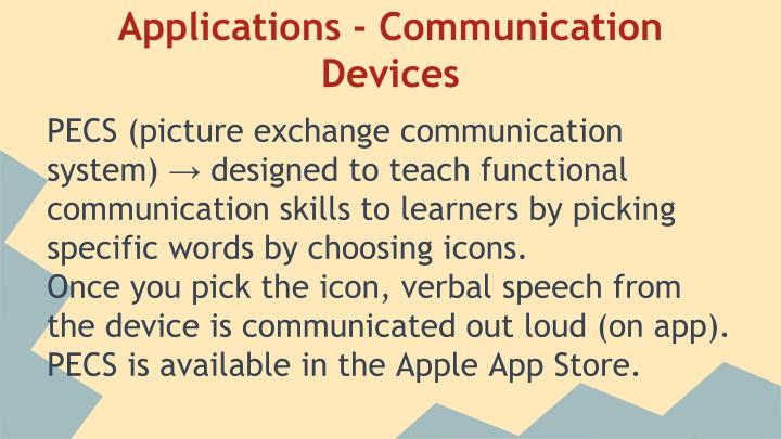 Applications - Communication Devices
