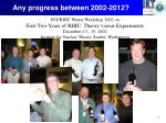 any progress between 2002 2012