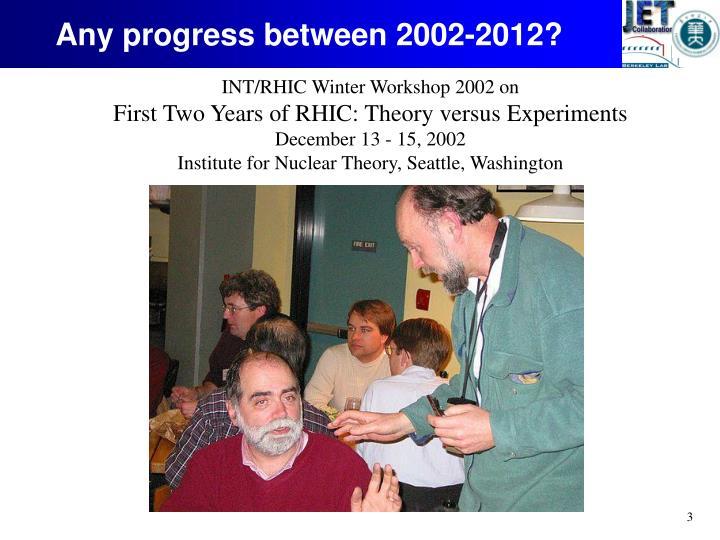 Any progress between 2002-2012?