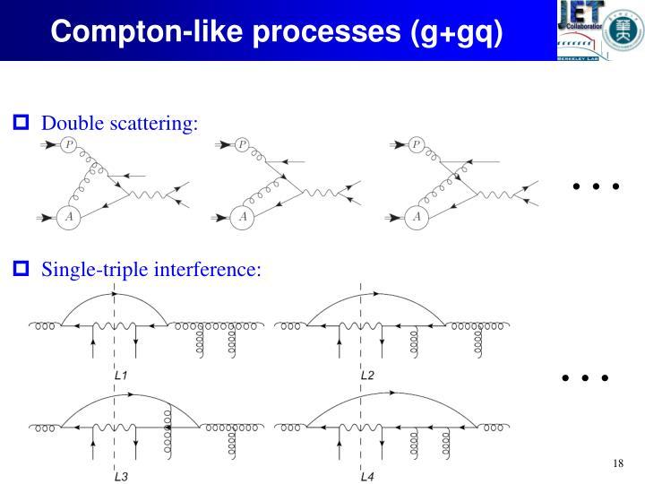 Compton-like processes (
