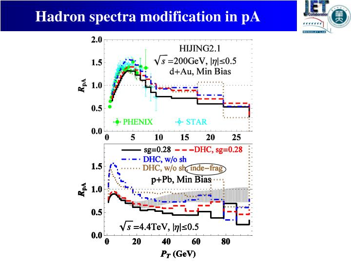 Hadron spectra modification in