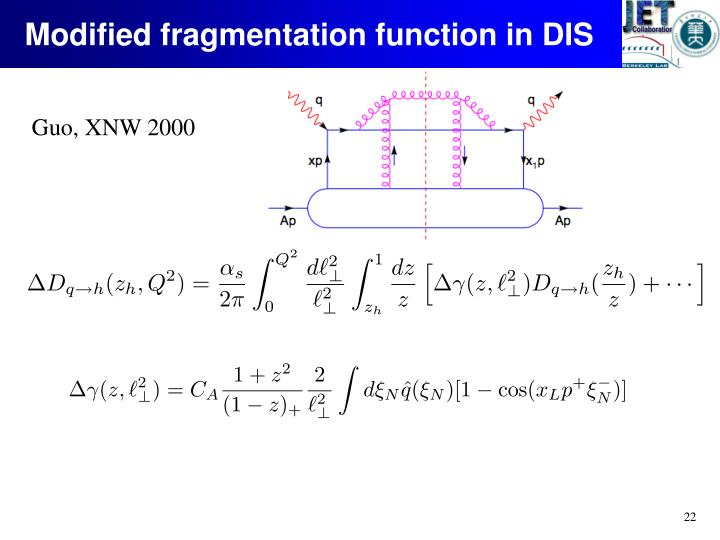 Modified fragmentation function in DIS