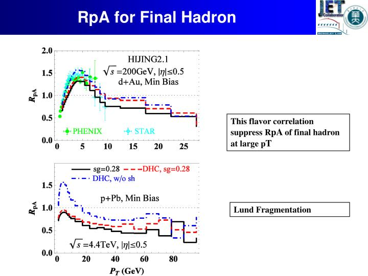 RpA for Final Hadron