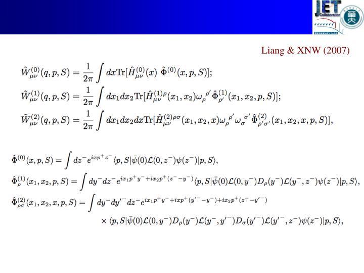 Liang & XNW (2007)