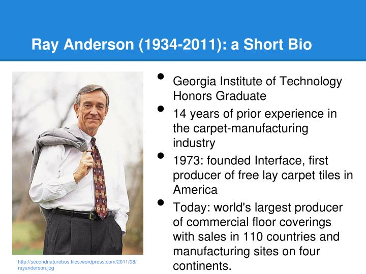 Ray Anderson (1934-2011): a Short Bio