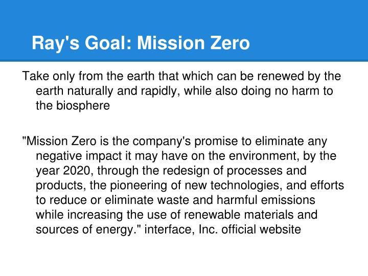 Ray's Goal: Mission Zero