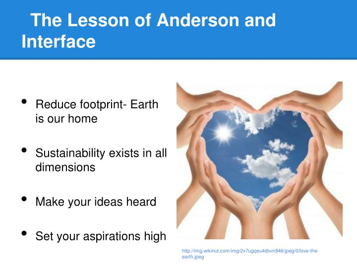 The Lesson of Anderson and Interface